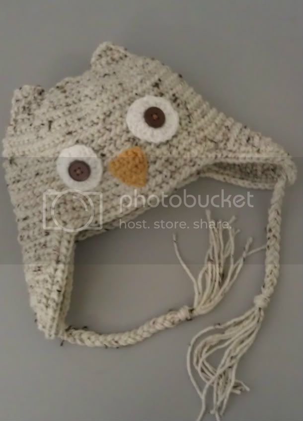 Hand Crocheted Adult Owl Hat